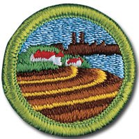 Some Boy Scouts and Girl Scouts working on this project received awards and badges, like this Boy Scout Soil and Water Conservation Merit Badge. Two Boy Scouts received their Eagle Scout awards, and a Girl Scout received the Gold Award--the highest awards you can get as a Scout.