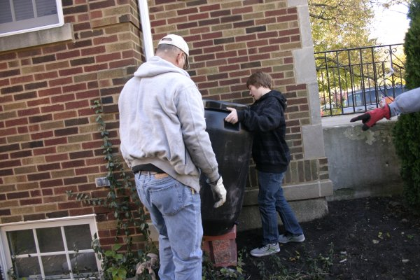 But Boy Scouts found ways to work with homeowners to make them the most comfortable with their new rain barrels.
